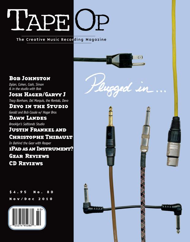 Read Tape Op #80   Tape Op Magazine   Longform candid