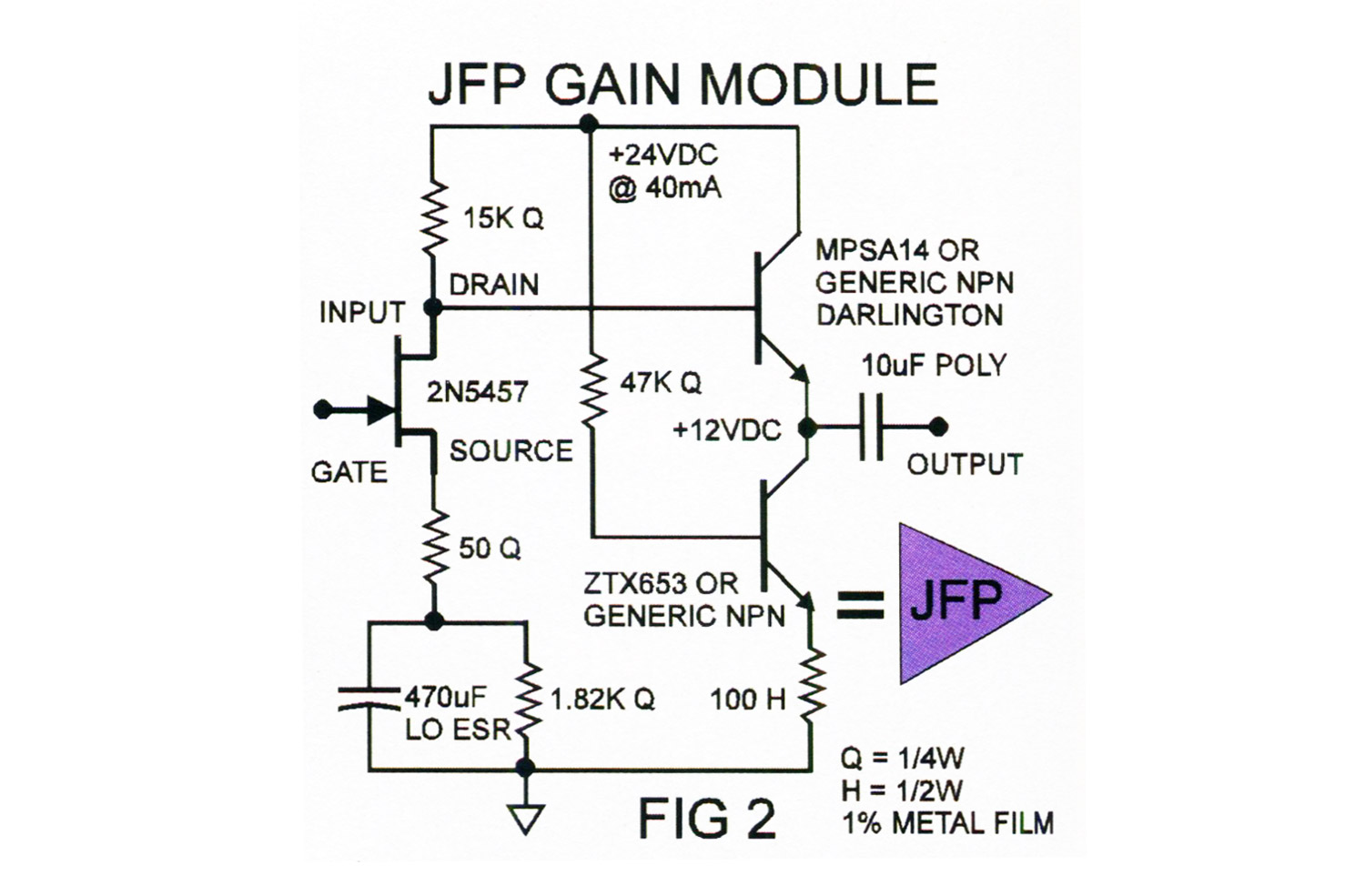 Diy Jfet Mic Pre Preamp And Beyond Tape Op Magazine Is The Schematic Circuit Diagram For Electret Condenser Microphone There Are As Many Ways To Buffer A Signal Signals So I Leave It Up Reader Explore More Esoteric Designs If Desired
